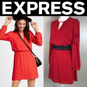 ✨NWT✨ Express Lace Inset Elastic Waist Dress